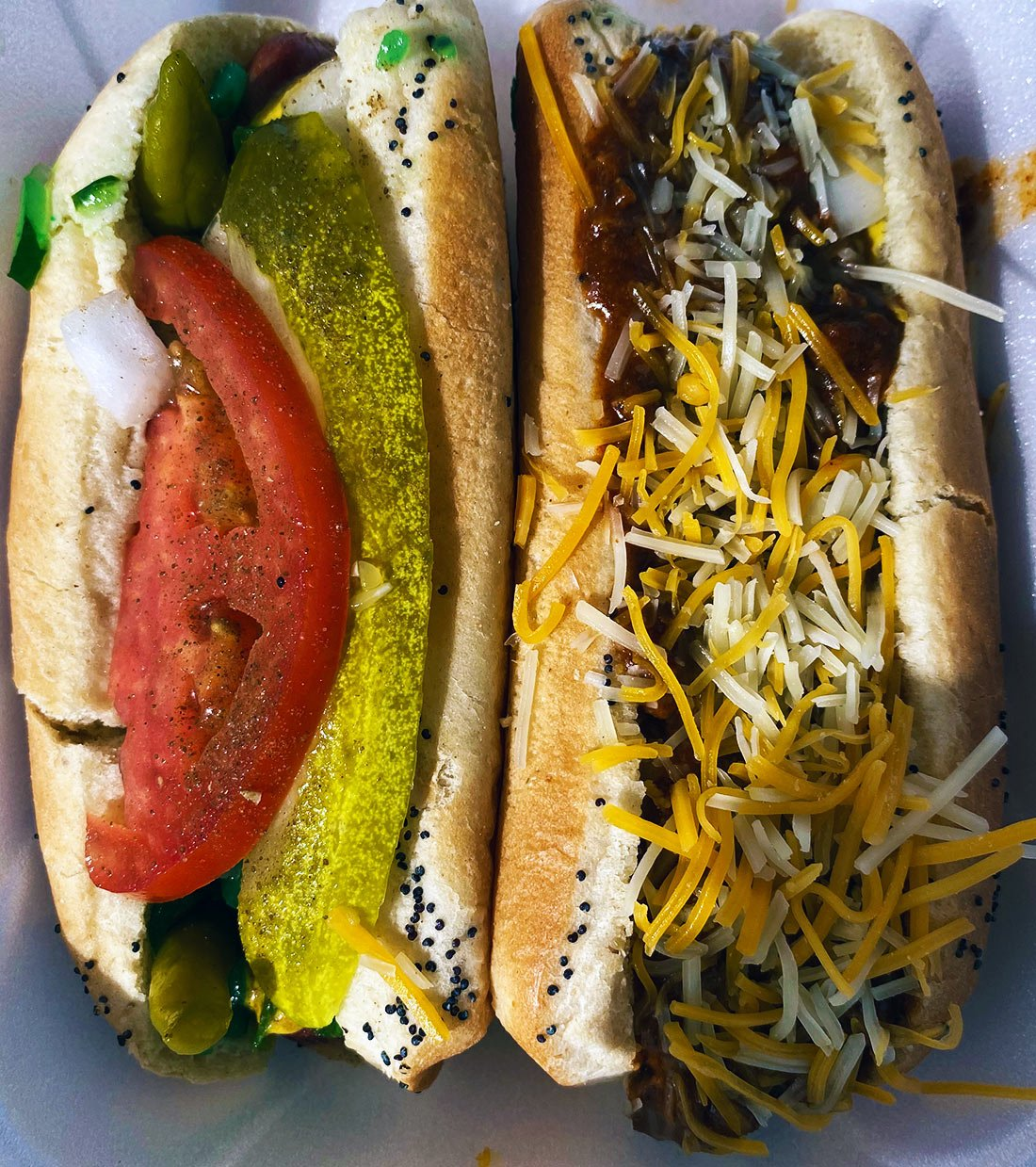 The Chicago and the Chili Cheese Dogs