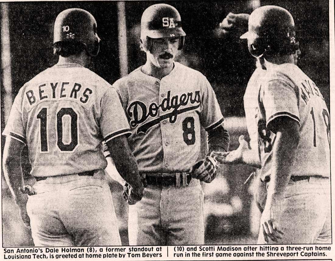 Dale Holman with San Antonio Dodgers