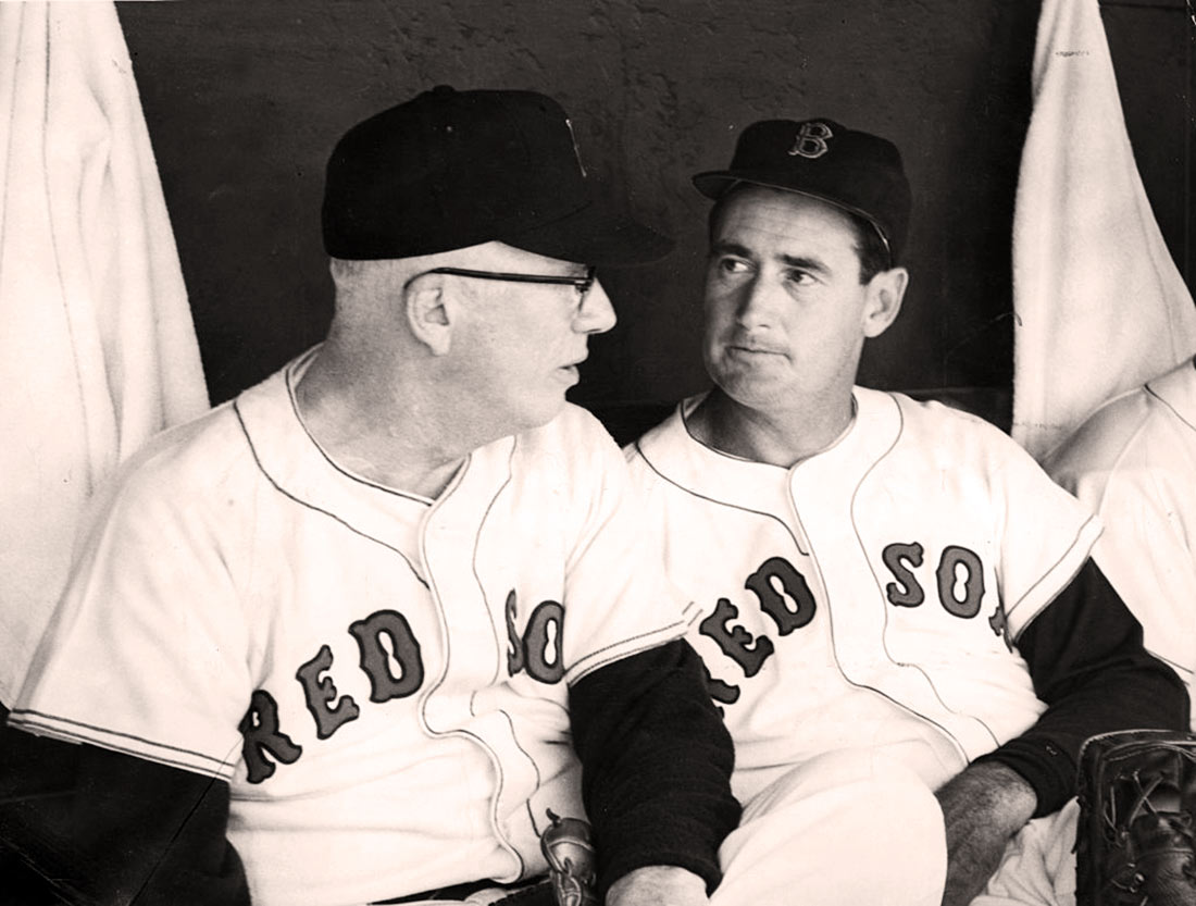 Lefty Grove and Ted Williams